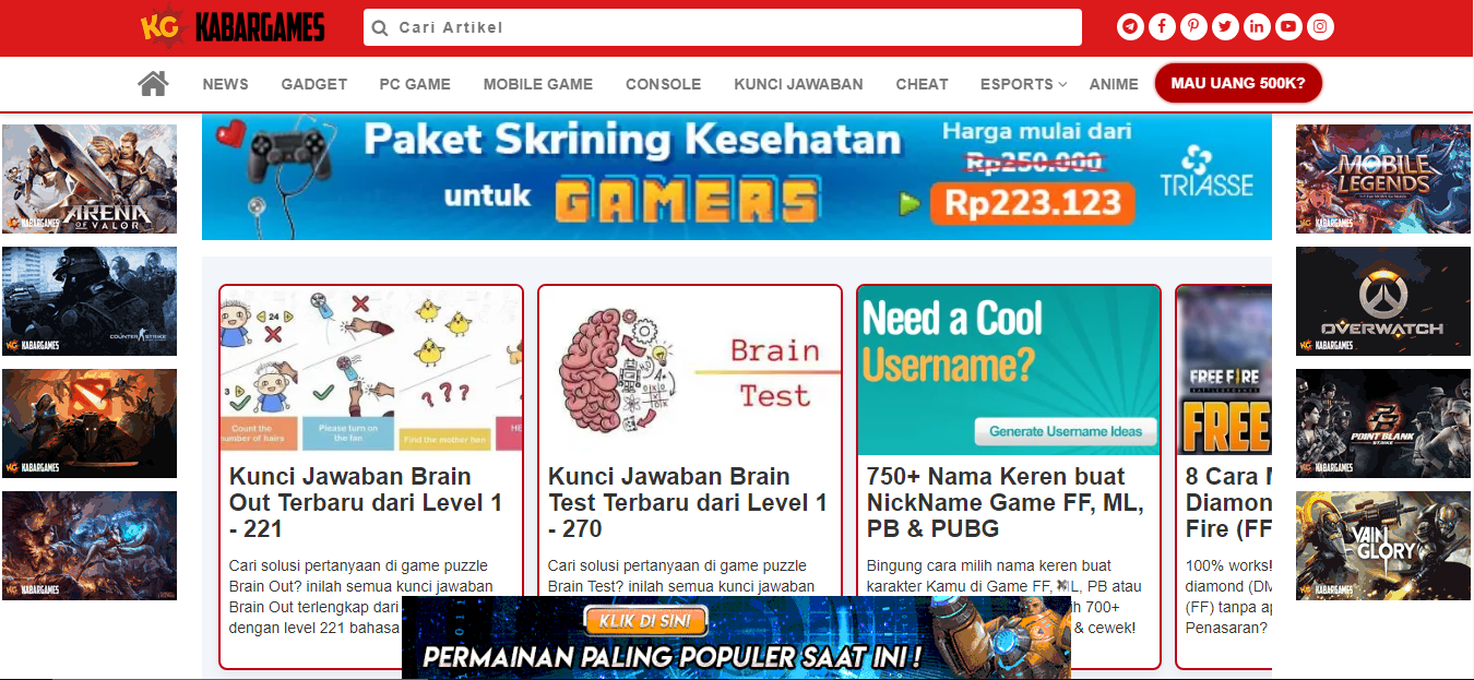 website kabar games